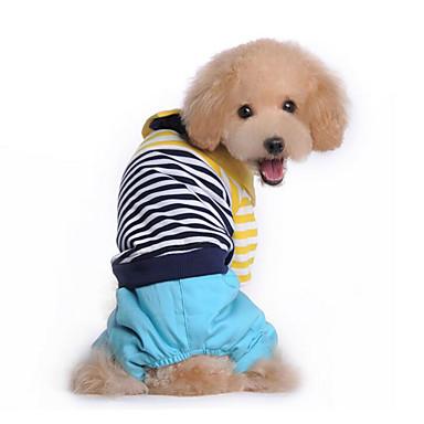 Hund Overall Hundekleidung Lässig/Alltäglich Streifen Rot Blau Kostüm Für Haustiere