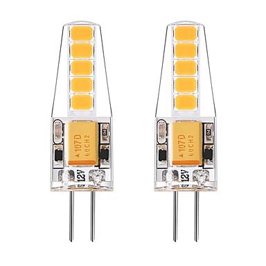 BRELONG® 2pcs 2W 250 lm G4 2-pins LED-lampen T 10 leds SMD 2835 Warm wit Wit