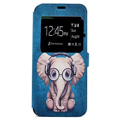 غطاء من أجل Samsung Galaxy S8 Plus S8 حامل البطاقات مع حامل نموذج غطاء كامل للجسم فيل كارتون قاسي جلد PU إلى S8 Plus S8 S7 edge S7