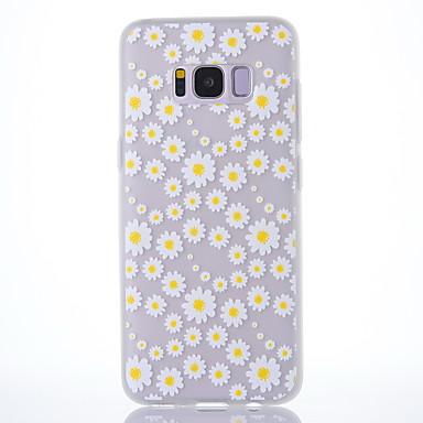 Maska Pentru Samsung Galaxy S8 Plus S8 Mătuit Translucid Model Carcasă Spate Floare Moale TPU pentru S8 S8 Plus