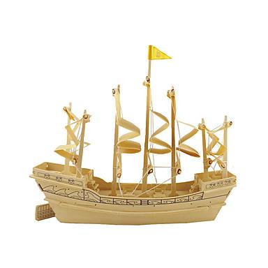 قطع تركيب3D تركيب النماذج الخشبية مجموعات البناء سفينة 3D محاكاة اصنع بنفسك خشبي خشب كلاسيكي للأطفال للجنسين هدية