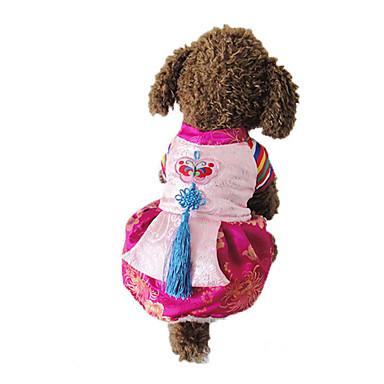 Hund Kostüme Hundekleidung Stickerei Seide Daune Kostüm Für Haustiere Herrn Damen Cosplay