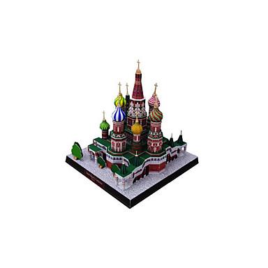 3D - Puzzle Papiermodel Papiermodelle Modellbausätze Berühmte Gebäude Kirche Architektur Heimwerken Klassisch Unisex Geschenk