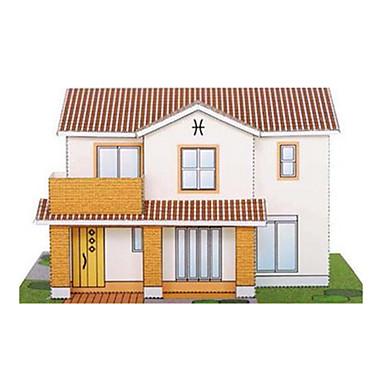 قطع تركيب3D نموذج الورق أشغال الورق مجموعات البناء بناء مشهور بيت معمارية اصنع بنفسك كلاسيكي للجنسين هدية