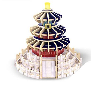 Robotime قطع تركيب3D تركيب النماذج الخشبية بناء مشهور معمارية 3D اصنع بنفسك خشب كلاسيكي للأطفال للجنسين هدية