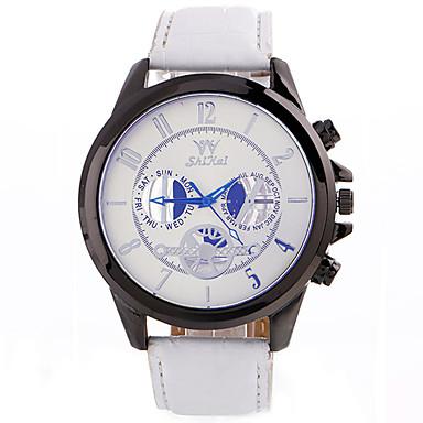 Herrn Sportuhr Modeuhr Armbanduhr Einzigartige kreative Uhr Armbanduhren für den Alltag Quartz Leder Stoff BandBettelarmband Cool Bequem