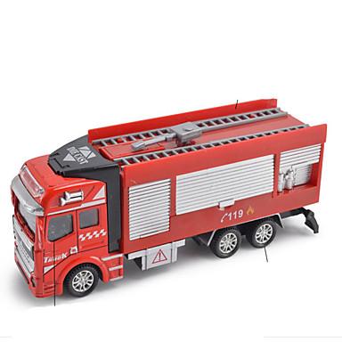 Jucării pentru mașini Jucarii Motocicletă Vehicul de Construcție Vehicul Pompieri Camion Jucarii Dreptunghiular Mașini de Pompiere Aliaj