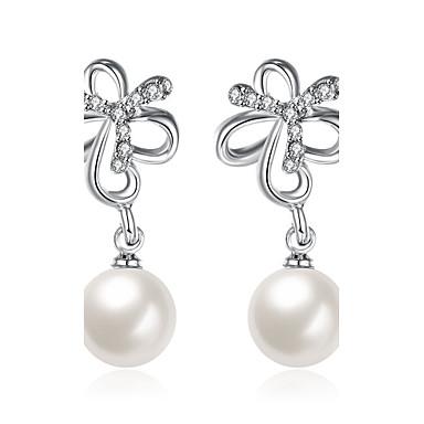 Damen Tropfen-Ohrringe Kubikzirkonia Imitierte Perlen Personalisiert Geometrisch Einzigartiges Design Anhänger Stil Quaste Klassisch