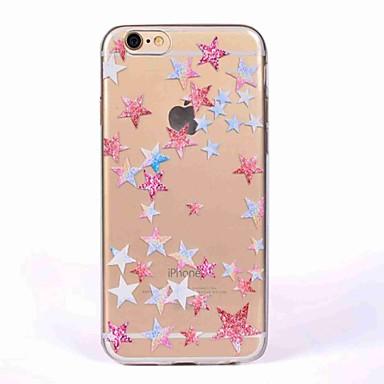 Caz pentru iphone 7 7 plus acoperă model geometric de back cover case star tpu moale pentru iphone 6s plus 6 5s 5 se