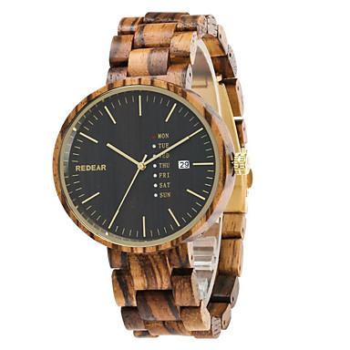 Bărbați Ceas Sport Ceas La Modă Unic Creative ceas Ceas Casual Ceas Lemn Chineză Quartz Calendar Rezistent la Apă Lemn Bandă Charm Lux
