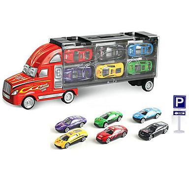 Speelgoedauto's Gegoten voertuigen Speeltjes Motorfietsen Truck Speeltjes Rechthoekig Vrachtwagen Metaallegering Rauta Stuks Unisex