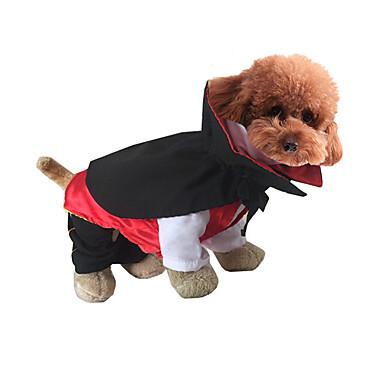 e7fa029254a14a [€29.99] Gato / Cachorro Fantasias Roupas para Cães Desenho Animado  Vermelho / Verde / Verde Caçador Tecido / Plumagem / Algodão Ocasiões ...