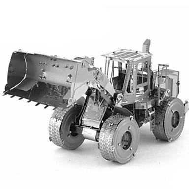 لعبة سيارات قطع تركيب3D تركيب معدني شاحنة 3D اصنع بنفسك كروم معدن كلاسيكي شاحنة سيارة الحفريات Dozer للأطفال صبيان للجنسين هدية