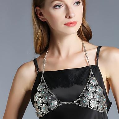 Damen Körperschmuck Körper-Kette / Bauchkette Aleación Silber Dreieck Modisch Modeschmuck Für Alltagskleidung Normal Outdoor Kleidung