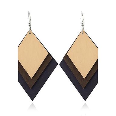 Pentru femei Cercei Dangle Bijuterii Γεωμετρικά Euramerican stil minimalist Lemn Geometric Shape Bijuterii Pentru Casual Ρούχα για Ύπαιθρο