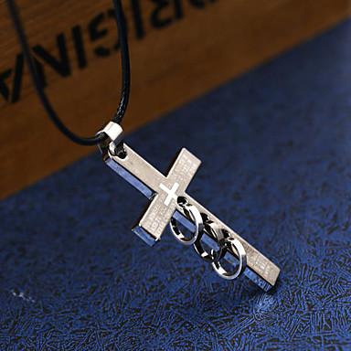 collier pendentif colliers fantaisie homme acier. Black Bedroom Furniture Sets. Home Design Ideas