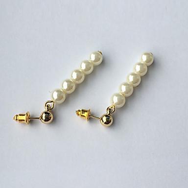 Damen Imitierte Perlen Tropfen-Ohrringe - Euramerican / Modisch Weiß Kreisförmig Ohrringe Für Alltag / Normal