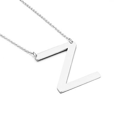 للرجال للمرأة قلائد الحلي Alphabet Shape الفولاذ المقاوم للصدأ كلاسيكي الصداقة موضة مجوهرات الأولية مجوهرات من أجل حزب عيد ميلاد هدية