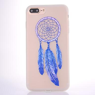 Maska Pentru Apple Mătuit Translucid Model Carcasă Spate Prinzător de vise Moale TPU pentru iPhone 7 Plus iPhone 7 iPhone 6s Plus iPhone