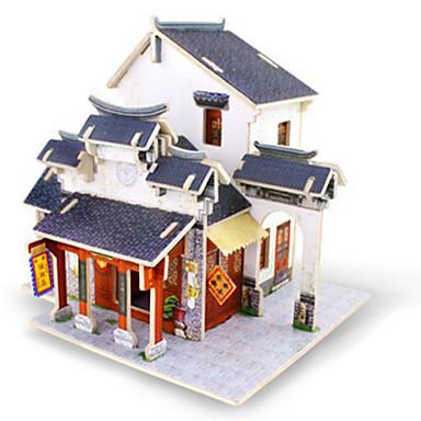 قطع تركيب3D تركيب الخشب نموذج مجموعات البناء ألعاب معمارية 3D اصنع بنفسك خشب غير محدد قطع
