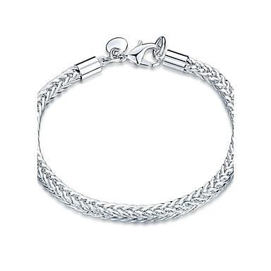 Dames Meisjes Kristal Verzilverd Armbanden met ketting en sluiting - Vriendschap Modieus Rock Punk Geometrische vorm Zilver Armbanden Voor