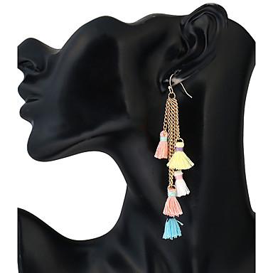 Dames Oorbelsluitingen Druppel oorbellen Ring oorbellen Hangende stijl Vintage Bloemen  Legering Geometrische vorm Sieraden Voor