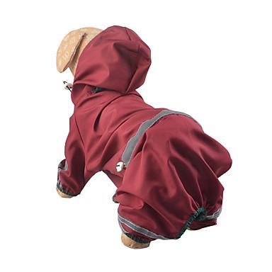 Hond Regenjas Hondenkleding Waterdicht Effen Geel Rood Jager Groen Kostuum Voor huisdieren