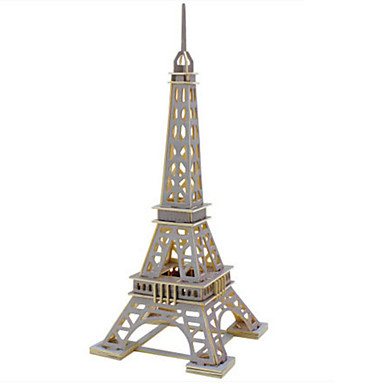 Robotime 3D - Puzzle Holzpuzzle Holzmodelle Modellbausätze Turm Berühmte Gebäude Architektur 3D Heimwerken Holz Eisen Klassisch 6 Jahre