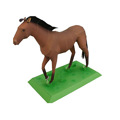 3D-puzzels Bouwplaat Modelbouwsets Papierkunst Speeltjes Koets Paard 3D Dieren DHZ Simulatie Unisex Stuks