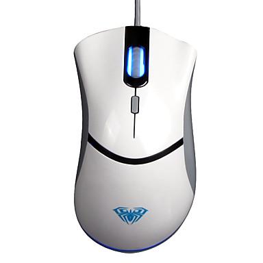 Aula usb 4 sleutels fps 500hz spel muis wit met180cm kabel