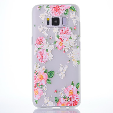 hoesje Voor Samsung Galaxy S8 Plus S8 Mat Doorzichtig Patroon Achterkantje Bloem Zacht TPU voor S8 S8 Plus