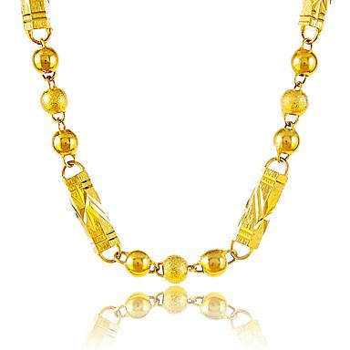 Heren Dames Verguld Kettingen - Cirkelvormig ontwerp Uniek ontwerp Vintage Rond Geometrische vorm Bal Goud Kettingen Voor Feest