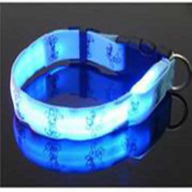 Hond Kraag draagbaar LED-licht Verstelbaar Cartoon Nylon Geel Groen Blauw