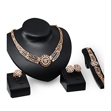 Pentru femei Ștras Ștras / Placat Auriu Lux Altele Set bijuterii - Personalizat / Lux / Vintage Circle Shape Auriu Seturi de bijuterii