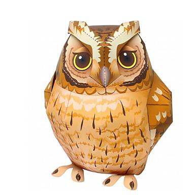 3D-puzzels Bouwplaat Modelbouwsets Papierkunst Speeltjes Vierkant Vogel Eend Eagle Uil 3D Dieren DHZ Simulatie Hard Kaart Paper Unisex