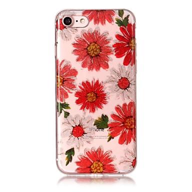 Hülle Für Apple iPhone 7 Plus iPhone 7 IMD Muster Rückseite Blume Glänzender Schein Weich TPU für iPhone 7 Plus iPhone 7 iPhone 6s Plus