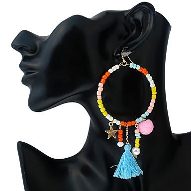 Dames Oorbelsluitingen Druppel oorbellen Ball Oorbellen Gepersonaliseerde Cirkelvormig ontwerp Bohémien Met de Hand Gemaakt Kunststoffen