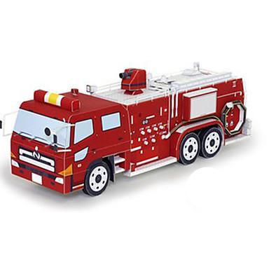 Spielzeug-Autos 3D - Puzzle Papiermodel Quadratisch Feuerwehr Autos 3D Heimwerken Hartkartonpapier Klassisch Feuerwehrauto Unisex Geschenk