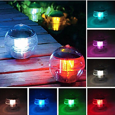Suya Gökkuşağı Havuzu Solar Yüzen LED Işık Lamba Topu değiştirme 7 Renkler