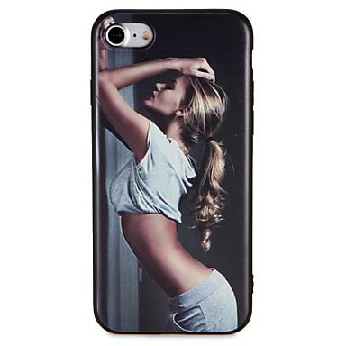 Fall für Apfel iphone 7 plus 7 Abdeckung geprägtes Muster rückseitige Abdeckungsfall reizvolle Dame weiche tpu 6s plus 6 plus 6s 6 5 5s