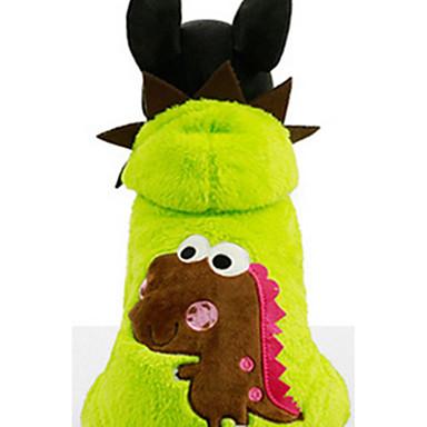 كلب هوديس ملابس الكلاب كاجوال/يومي كرتون فوشيا أخضر