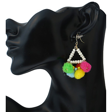 Pentru femei Închizătoare Cercel  Cercei Picătură Cercei cu bile Personalizat Ciucure Boem Confecționat Manual Modă Aliaj Metalic Plastic