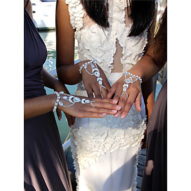 Damen Ketten- & Glieder-Armbänder Strass Modisch Strass Aleación Gold Silber Tropfen Schmuck Party Veranstaltung / Fest Party / Abend