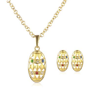 Pentru femei Set bijuterii Coliere cu Pandativ - Placat Auriu Auriu