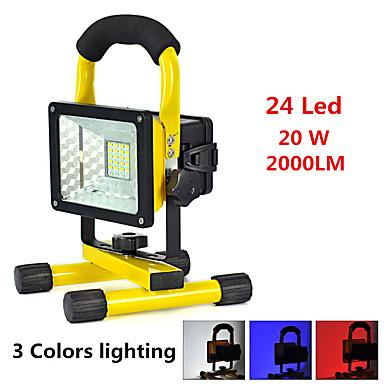 Lanterne  Manuale LED 2000 lumens lm 3 Mod LED Alarmă Rezistent la Impact De mare putere Foarte luminos Urgență