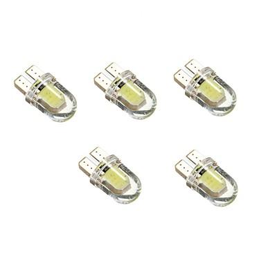 1 واط dc12v الأبيض t10 2cob الزخرفية مصباح القراءة ضوء لوحة ترخيص ضوء مصباح الباب 5 قطع