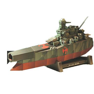 3D-puzzels Legpuzzel Modelbouwsets Papierkunst Speeltjes Vierkant Oorlogsschip Schip 3D DHZ Simulatie Unisex Stuks