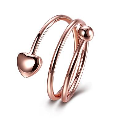 Damen Ring Schmuck Personalisiert Luxus Geometrisch Einzigartiges Design Klassisch Retro Böhmische Grundlegend Herz Kreis Freundschaft