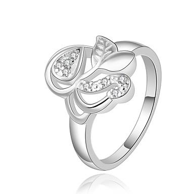 Dames Ring Kubieke Zirkonia Gepersonaliseerde Uniek ontwerp Klassiek Vintage Tekojalokivi Bohémien Standaard Natuur Vriendschap Brits