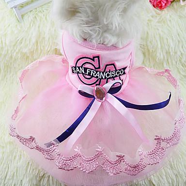 Câine Rochii Îmbrăcăminte Câini Petrecere Casul/Zilnic Prințesă Albastru Roz Costume Pentru animale de companie